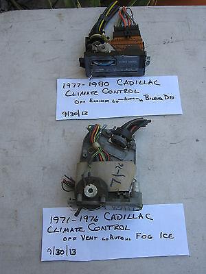 1971-1976 CADILLAC CLIMATE CONTROL,FLEETWOOD,ELDORADO,DEVILLE,SEVILLE,HTRCONTROL