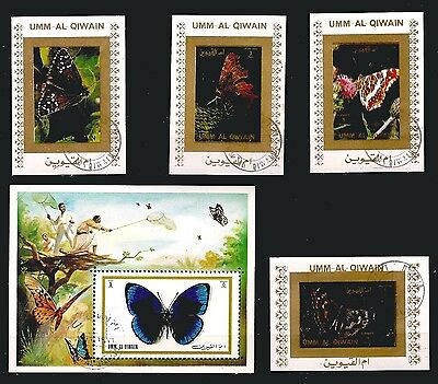Butterflies Callithéa And Various .countries Umm Pr221 Block And 4t.oblitérés Stamps