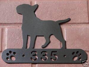 TERRIER ADDRESS SIGN DOG HOME PET K9 MEMORIAL HOUSE ART