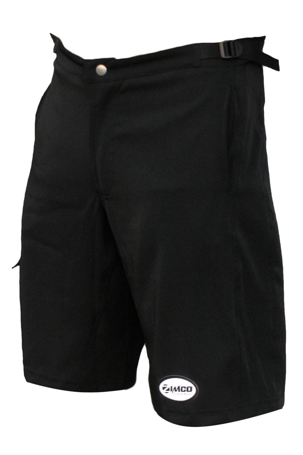 Zimco Ultra Comfort MTB Shorts Mountain Bike Baggy Shorts Lycra Padded Liner Blk