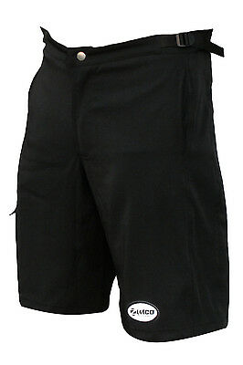 Zimco Ultra Comfort MTB Mountain Bike Baggy Shorts with Lycra Padded Liner Black