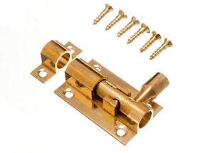 Packung-Von-10-Messing-Tuerriegel-Zylinder-Seitenverschluss-38Mm-3-8cm-amp