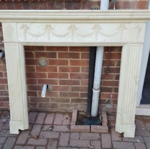Must Buy Stone Marble Effect Standing Mantel Shelf For Fireplace
