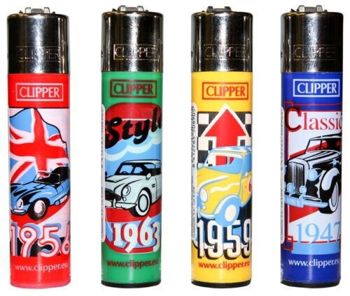 CLIPPER-LIGHTERS-wholesale-48-english-cars-collectable-comes-3-led-lighters