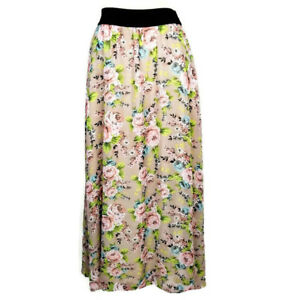 b574606a8f LuLaRoe Lucy Maxi Skirt XXS Beige Pink Floral Roses Full Length Pull ...