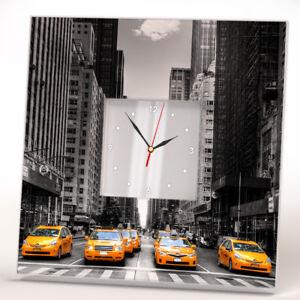 Details about Manhattan Yellow Cab New York Taxi Wall Clock Mirror Decor  Art Home Design Gift