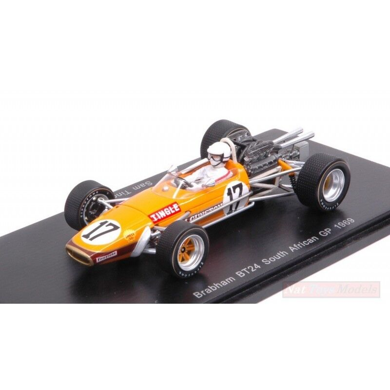 SPARK MODEL S5255 S5255 S5255 BRABHAM BT24 S.TINGLE 1969 N.17 8th SOUTH AFRICAN GP 1 43  venderse como panqueques