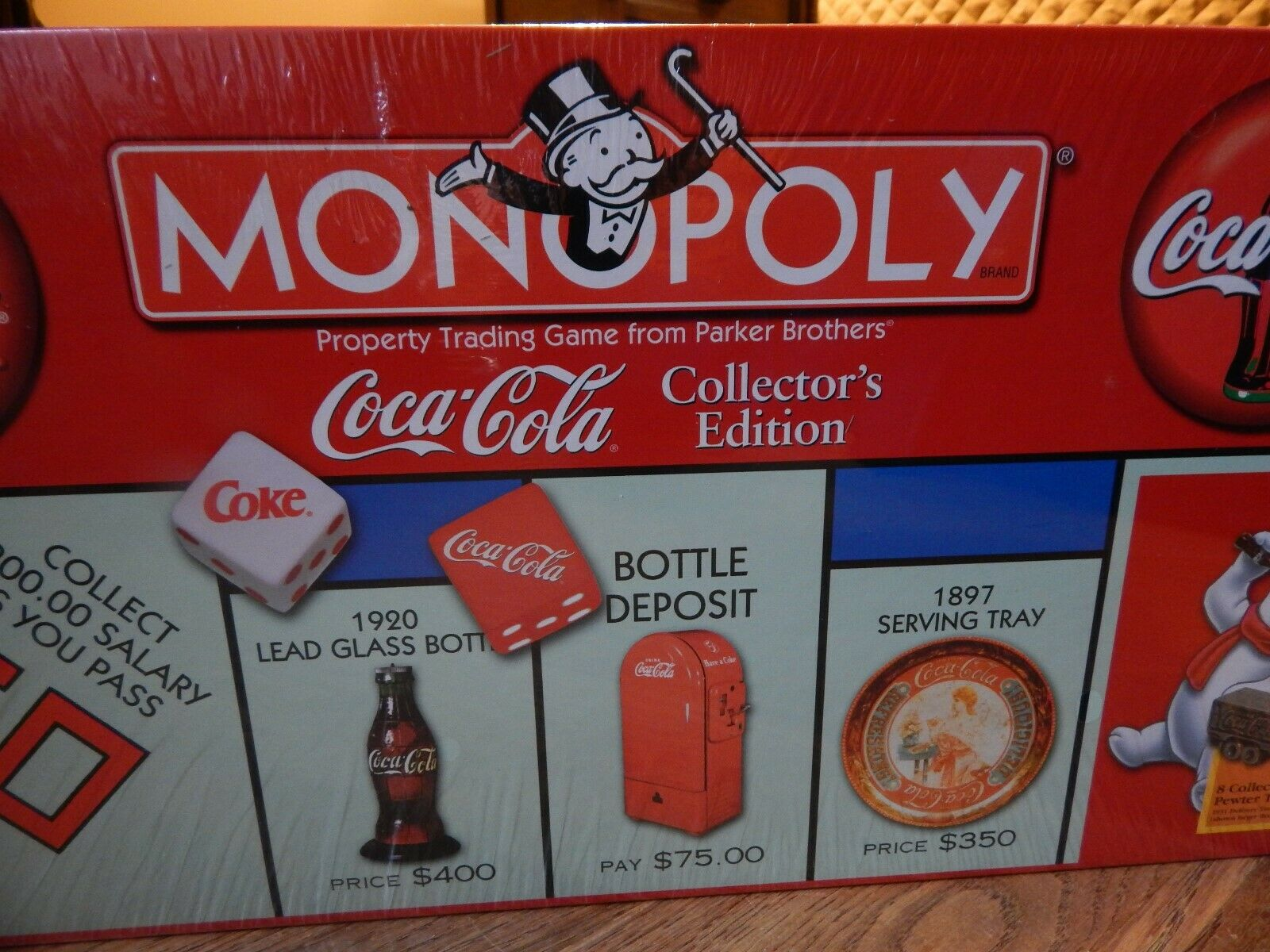 New Monopoly Coca Cola Collector's Edition Board Game Unopened Factory Sealed