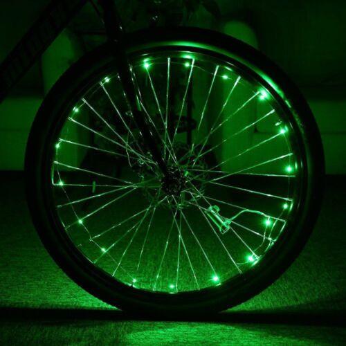Flexible 20 LED Bicycle Bike Cycling Spoke Wheel Rim Light Strip Lamp Waterproof