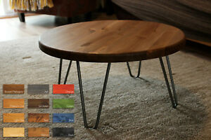 Incroyable Details About Rustic Industrial Wooden Round Table Metal Hairpin Legs