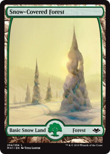 English Modern Horizons MTG Magic 10x Snow-Covered Forest NM-Mint