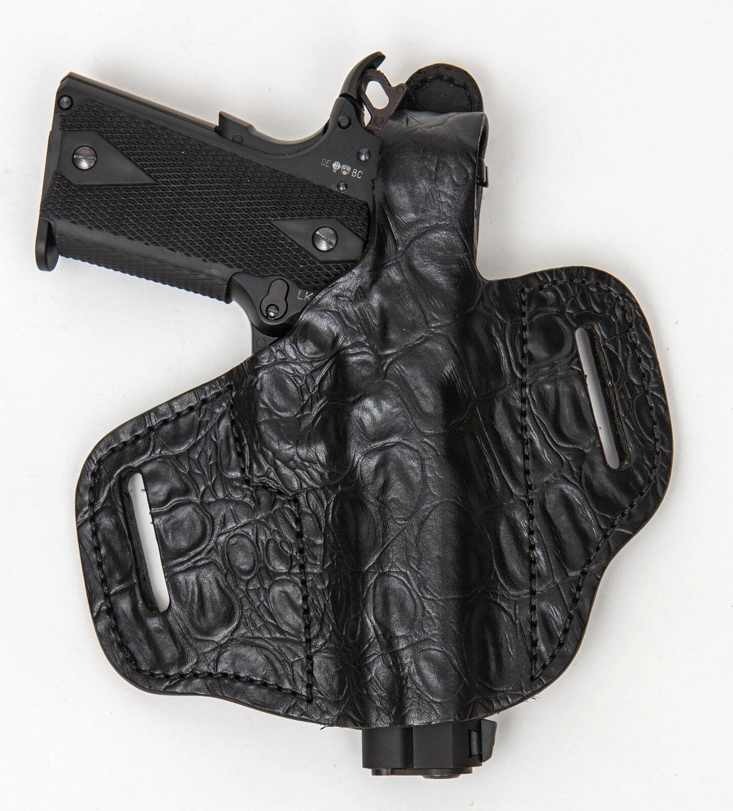 En servicio ocultar RH LH owb Cuero Funda Pistola para Kimber solo con láser