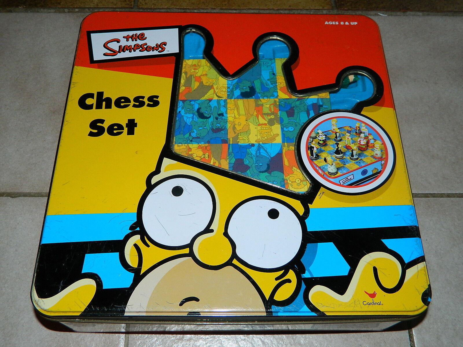 Simpsons aux échecs SET-Chess Set-Cardinal-Dans Métal Box-complet-RARE