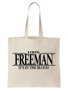Freeman-Family-Name-Tote-Shoulder-Bag-Shopper-Surname-Gift-Gift-Tree-Cool