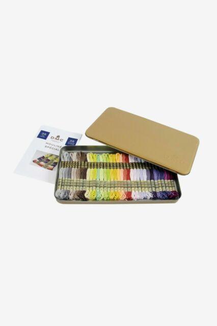 DMC 117ZA w Collectors Tin with 35 Colors Floss
