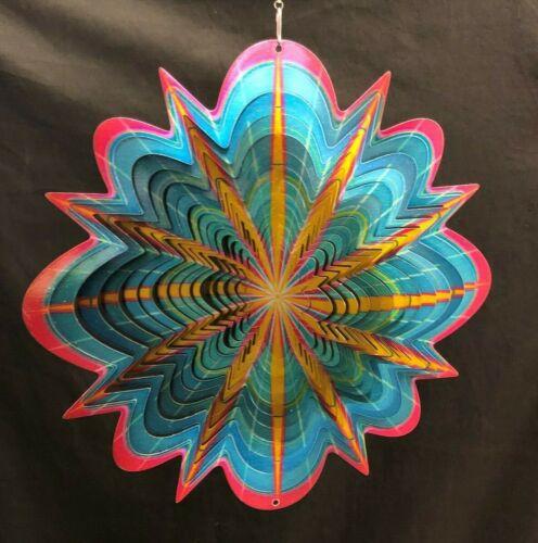 """NEW 12/"""" ARCTIC SPLASH WIND SPINNER Stainless steel Home /& Garden Decor SPIN ART"""