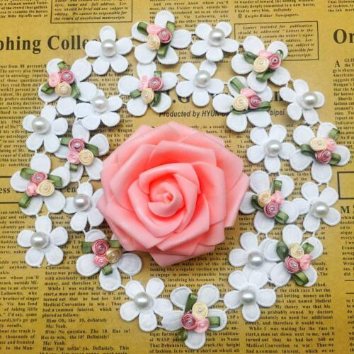 10X Rose Flower Soluble Lace Trim Wedding Embroidered Ribbon DIY Sewing Craft