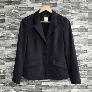 Agnes B. Paris Viscose Rayon Polyester Women Black Light Blazer Japan S