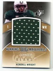 2012-Upper-Deck-SPx-KENDALL-WRIGHT-SP-Big-HUGE-GAME-JERSEY-199-Baylor-Bears-SP
