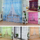 Door Room Tulle Voile Floral Window Curtain Sheer Panel Drapes Scarfs Curtain #P