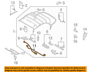 02 cabrio convertible top wiring diagram audi oem 10 17 a5 quattro convertible soft top wire harness  audi oem 10 17 a5 quattro convertible