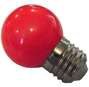 NEW LED 1 RED 1 WATT BROODER LIGHT ATTRACTION BULB FOR BABY CHICKS QUAIL DUCK