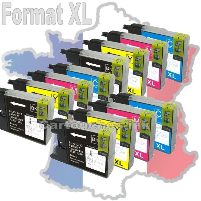Cartouches d'encre compatible pour imprimante Brother LC1220 LC1240 LC1280 XL