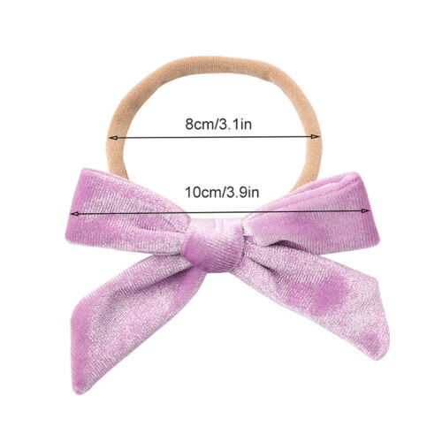 Baby Girl Soft Velvet Bowknot Headband Toddlers Simple Cute Sweet Hair Band Clip