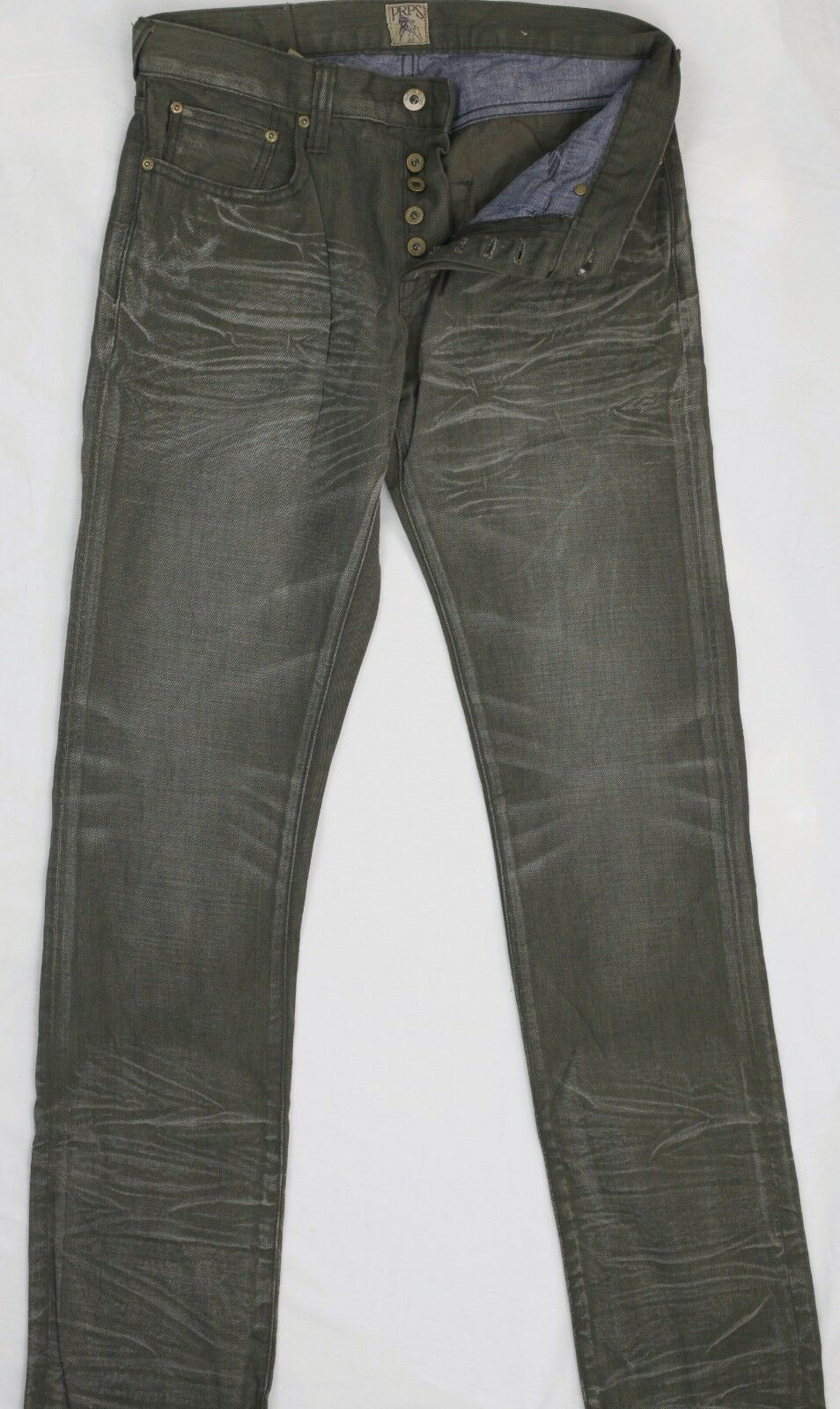 PRPS Green Denim Jeans Slim Fit Label 31 Measure 31 Preowned Condition