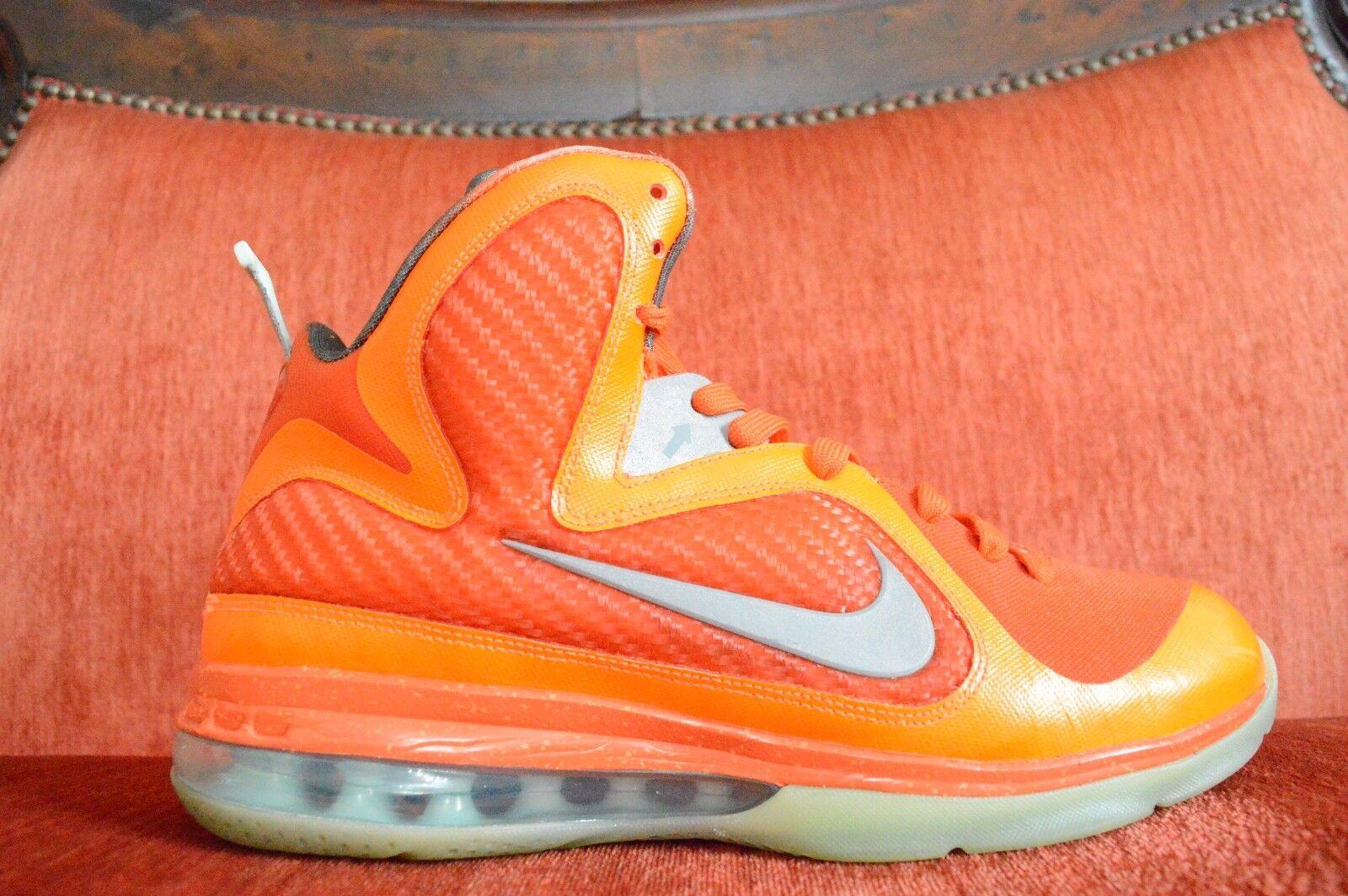 WORN TWICE Nike Lebron 9 All Star Galaxy Big Bang 520811-800 Size 10 Orange