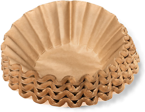 """Coffee Filters - Natural Unbleached Brown Biodegradable - Large Basket - 9.75"""" -"""