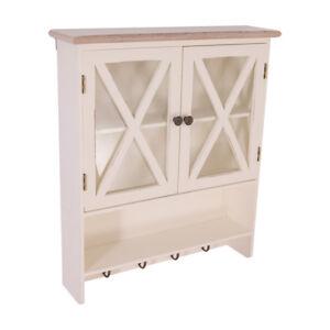 Dettagli su Mensola Florence Stile Country Pensile da Cucina Legno Vintage  Look Bianco