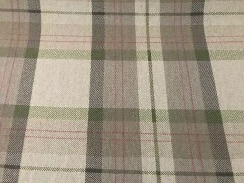 Prestigieux 100/% coton tartan carreaux vert rideaux ameublement aveugle