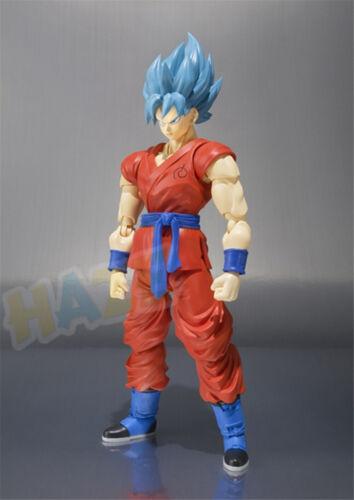 S.H.Figuarts Dragon Ball Z Son Goku Blue hair PVC Figure Modell 16cm
