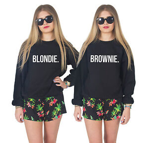 blondie brownie jumper sweater best friends matching. Black Bedroom Furniture Sets. Home Design Ideas