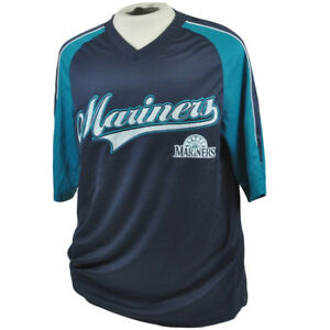 sale retailer 19edb 0a86e Details about MLB Seattle Mariners True Fan Lightweight Licensed Authentic  Jersey Shirt Large