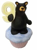 Big Sky Carvers Birthday Age 9 Bear Cub Mini Cupcake Cake Figurine Jeff Fleming