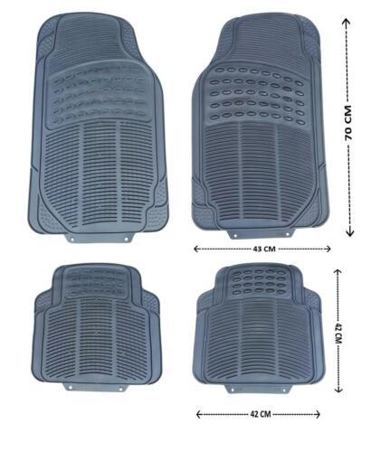 Auto Fußmatten Gummimatten Gummi Matten Set Zuschneidbar Schwarz für Fiat