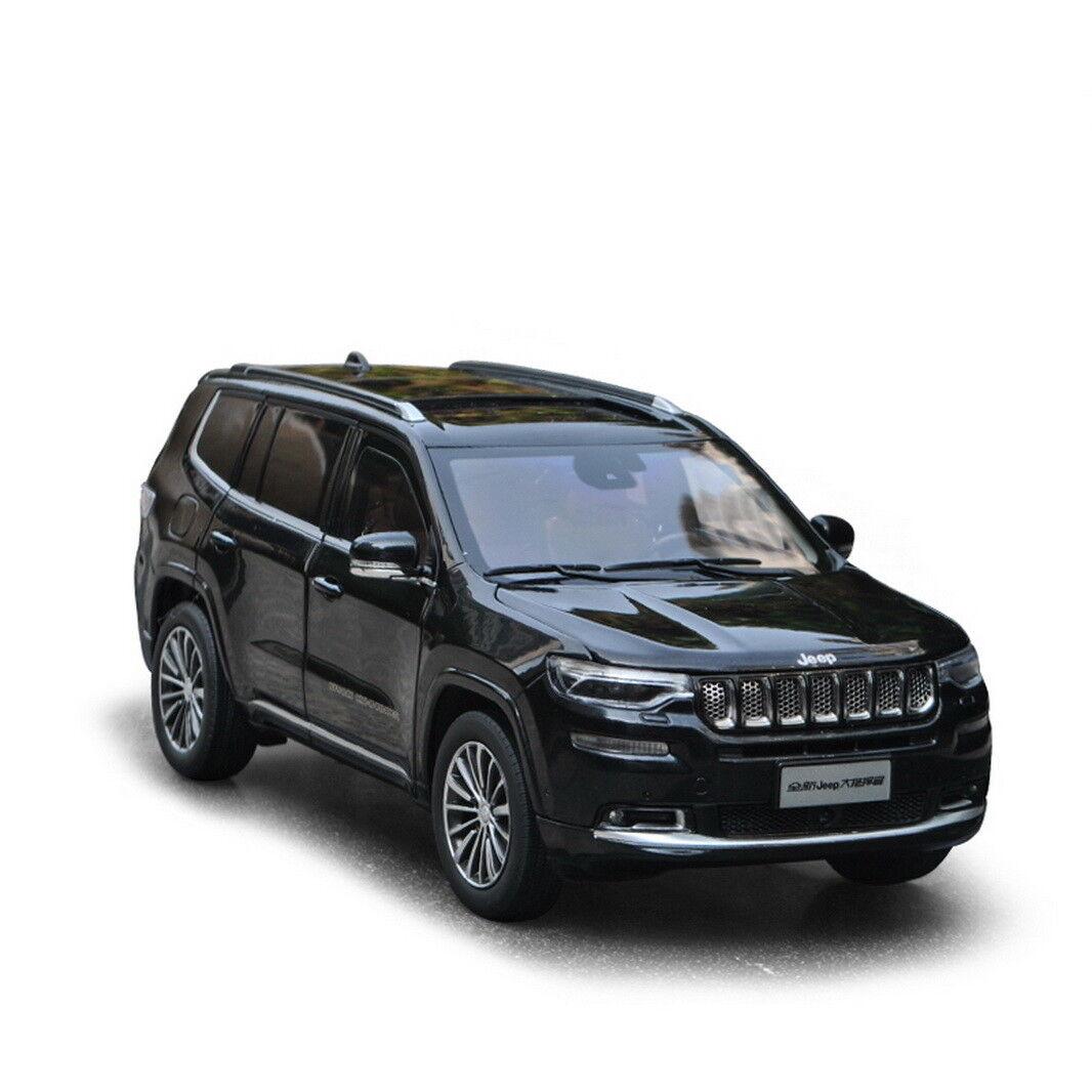 1 18 SCALA Jeep Grand Commander Nero Modello Diecast Auto + piccolo regalo