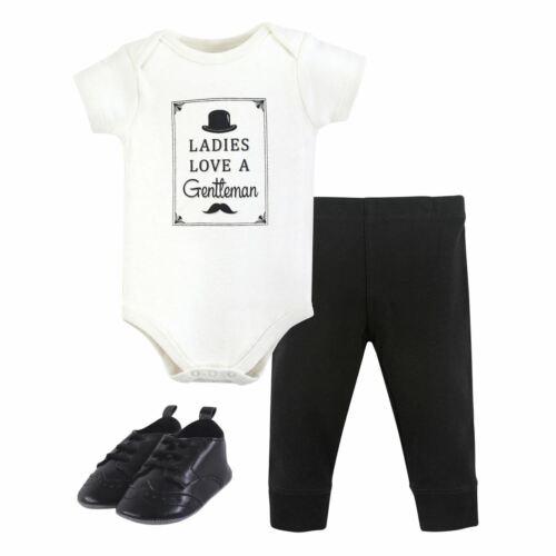 3-Piece Set Ladies Love a Gentlem Hudson Baby Boy Bodysuit Pants and Shoe Set