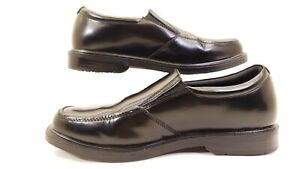 Nunn-Bush-Men-039-s-Black-Leather-Slip-On-Sz-10W-Comfort-81424-001