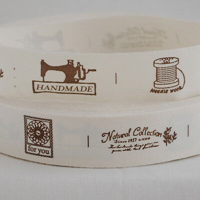 Cotton Fabric Ribbon Trim - Sewing Label - Sewing Hobby