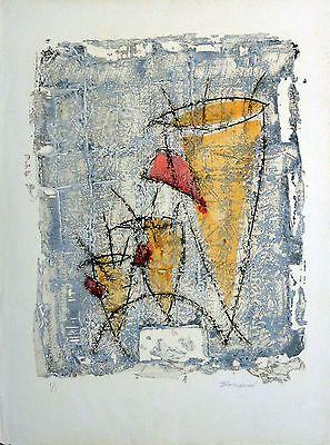 """""""Percussion"""" by Pierre Marie Brisson, Signed Carborundum 1/1, Vision Nouvelle"""