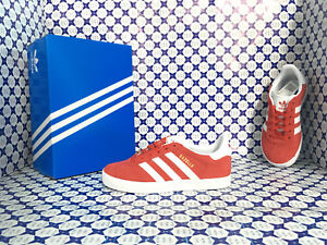 hot sales b7a2a 77e25 Image is loading Shoes-Adidas-Gazelle-Kids-Baby-Red-White-by9547