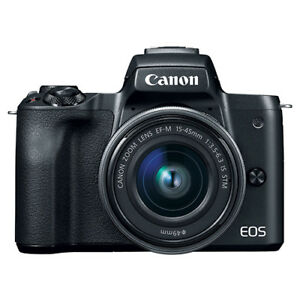 Canon EOS M50 Mirrorless Digital Camera with 15-45mm EF-M IS STM Lens Black 9781380330123