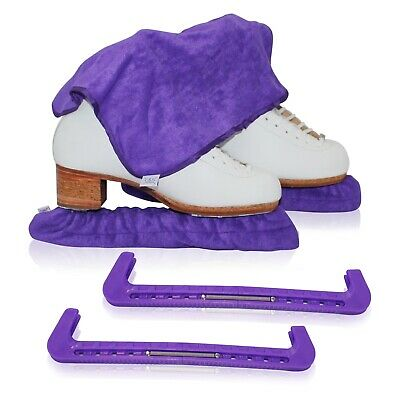 Toweling Skate Blade Soaker Protect Cover Ice Figure Skating Blades Guard