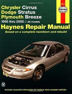 haynes plymouth breeze 95 00 owners service repair workshop manual rh ebay co uk 1999 Plymouth Breeze Problems 1999 Plymouth Breeze Master Cylinder