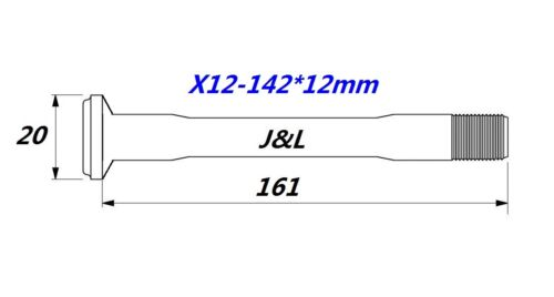 J/&L X-12 Thru Axle 142*12mm//X-12 Boost 148*12mm 28g-for Specialized/&Syntace