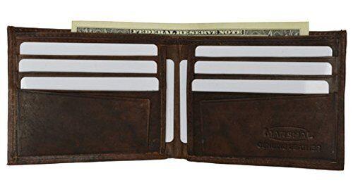 Mens Brown Slim Line Leather Wallet style - 1308cf