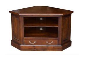 Mahogany Tv Corner Cabinet Wood Traditional Furniture Home